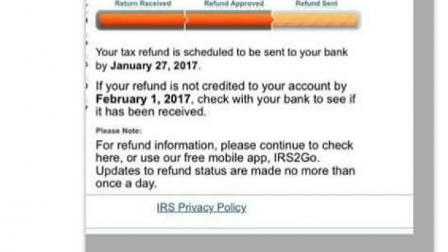 First IRS Payout Date set on IRS Where's My Refund 2017